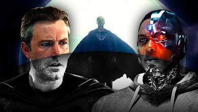 Batman, Superman, Cyborg Black & White