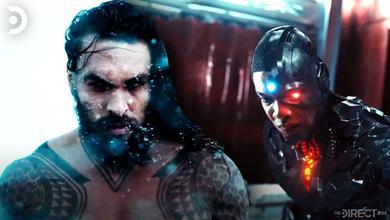 Jason Momoa as Aquaman, Ray Fisher as Cyborg