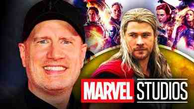 Chris Hemsworth as Thor, Kevin Feige, Marvel Studios logo