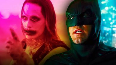 Jared Leto as Joker, Ben Affleck as Batman