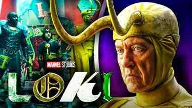 Loki logo, Richard E. Grant as Classic Loki, Jack Veal's Kid Loki, Boastful Loki
