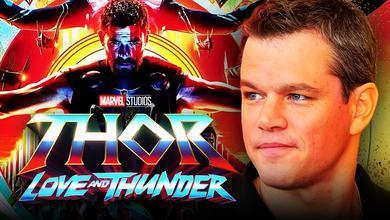 Thor: Love and Thunder logo, Matt Damon, Chris Hemsworth as Thor