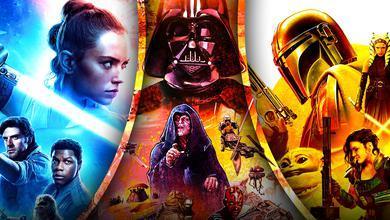 Star Wars Poster Rey Darth Vader Mandalorian