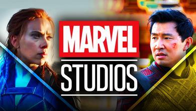 Black Widow Shang Chi Marvel Studios logo