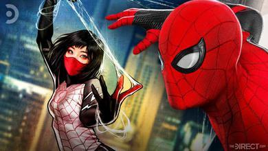 Silk on left and Spider-Man on right