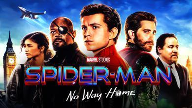 MJ, Fury, Spider-Man, Mysterio, Happy, Spider-Man: No Way Home