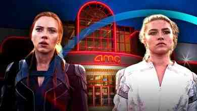 Black Widow portrayed by Scarlett Johansson, Yelena Belova portrayed by Florence Pugh, AMC Theaters