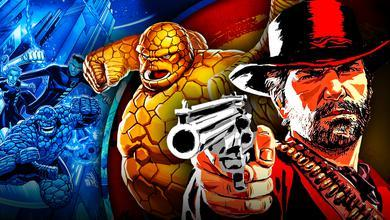 Red Dead Redemption Arthur with The Thing Fantastic Four