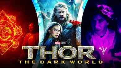 Chris Hemsworth as Thor, Thor: The Dark World logo