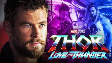 Thor Love and Thunder Chris Hemsworth Set Photo