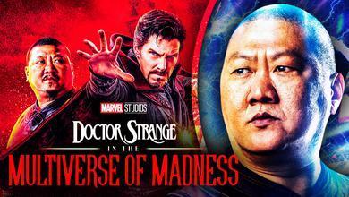 Wong, Doctor Strange, Doctor Strange in the Multiverse of Madness logo, Benedict Wong as Wong