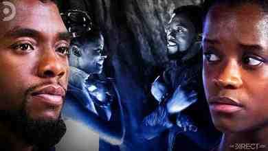 Chadwick Boseman as Black Panther, Letitia Wright as Shuri