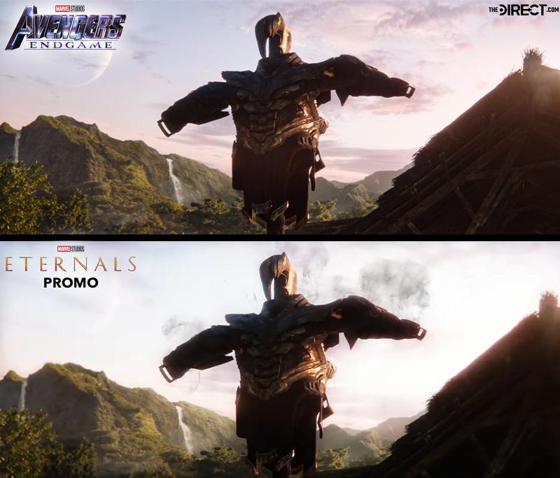 Thanos Armor, Eternals promo, Endgame