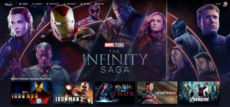 Disney+, Marvel Studios, Infinity Saga Collection